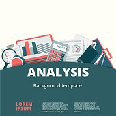 Financial analysis vector background design. Audit