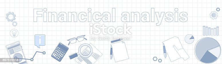 istock Financial Analysis Word On Squared Background Horizontal Banner Sales data Research Concept 897515516