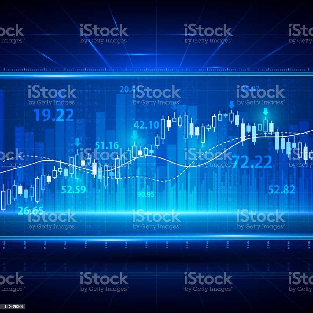 Financial and business abstract background with candle stick graph chart. Stock market investment vector concept vector art illustration