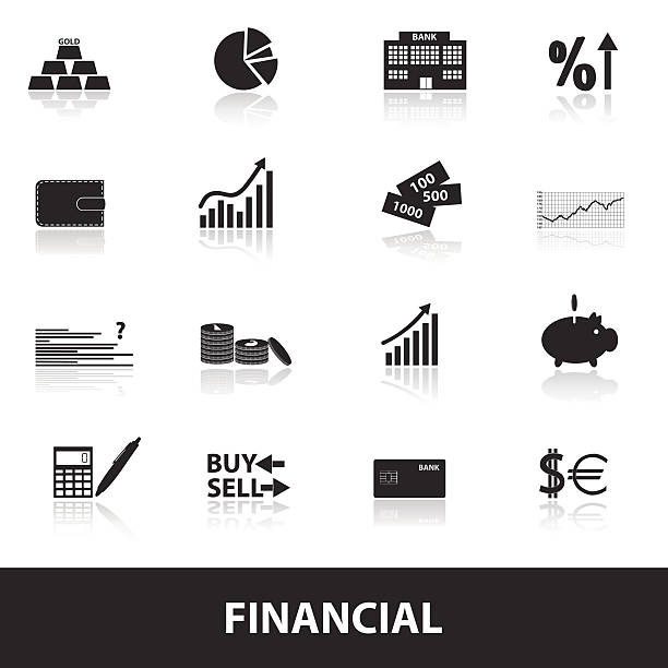 financial and money icons eps10 financial and money icons eps10 commercial event stock illustrations