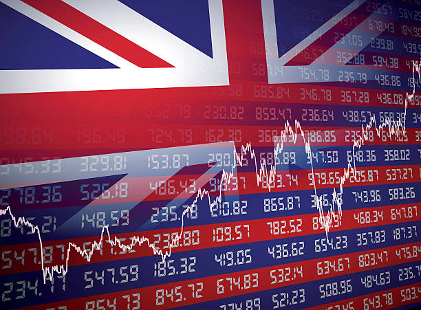 bildbanksillustrationer, clip art samt tecknat material och ikoner med uk financial background - brexit