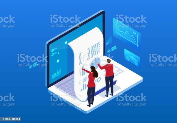 Finansiella Fakturering Data Statistik Och Bill Betalning Meddelande-vektorgrafik och fler bilder på Affärsman