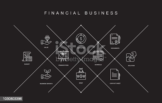 Financial Business Line Icons