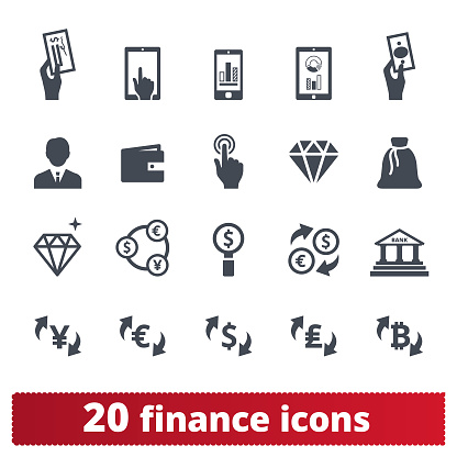 Financial Business Money Making And Banking Icons Stock Illustration - Download Image Now