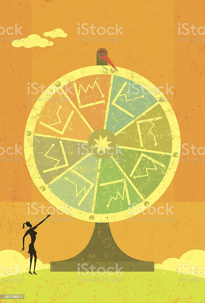 Financial Chart Fortune Wheel royalty-free financial chart fortune wheel stock vector art & more images of achievement