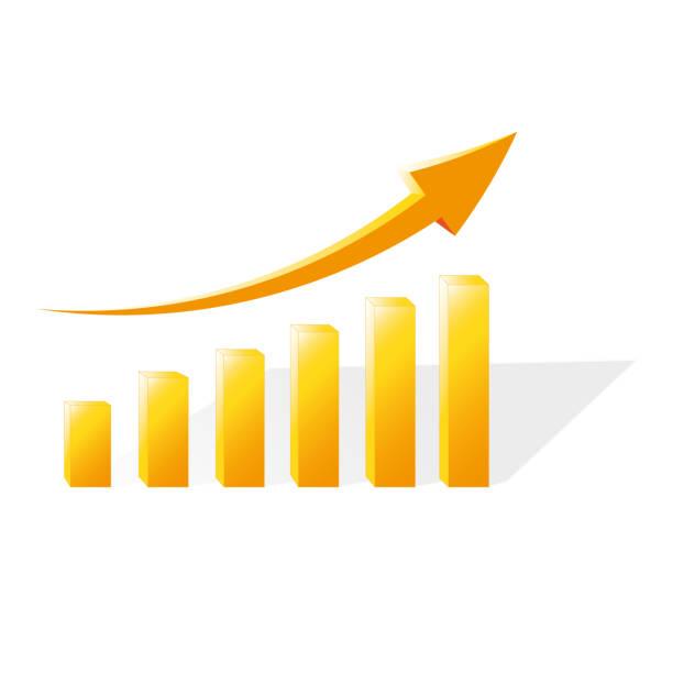 Financial chart showing vector art illustration