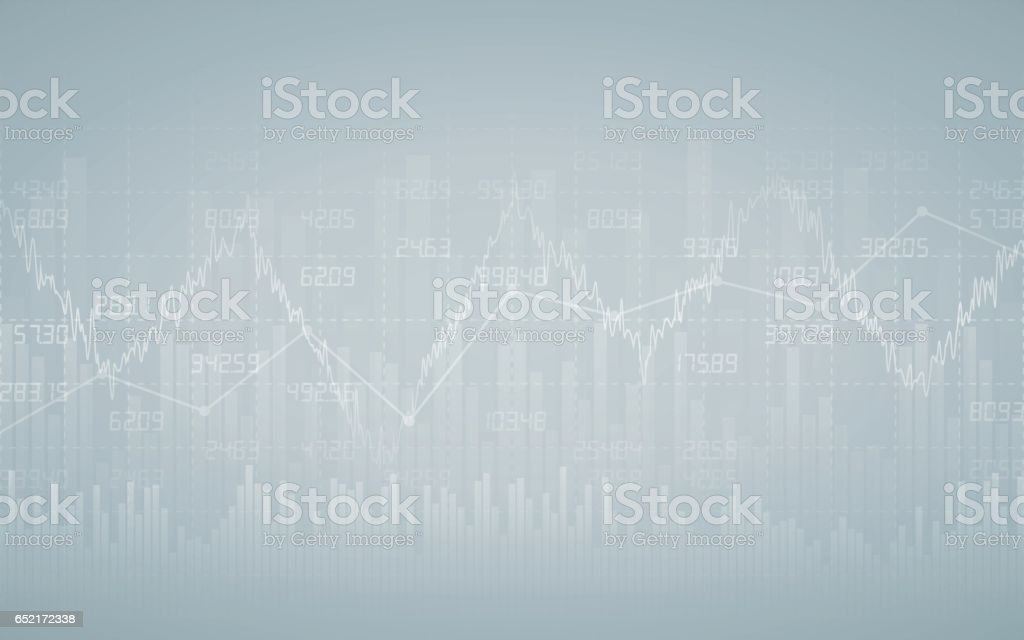 Financial chart with number in stock market vector art illustration