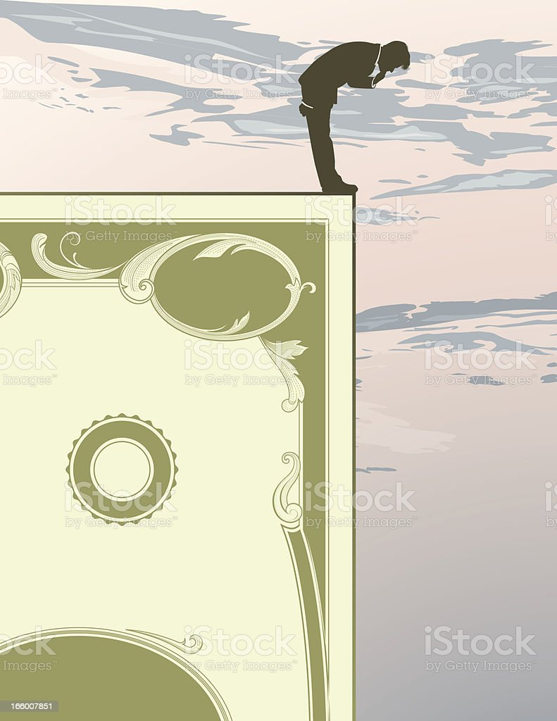 Financial Cliff vector art illustration