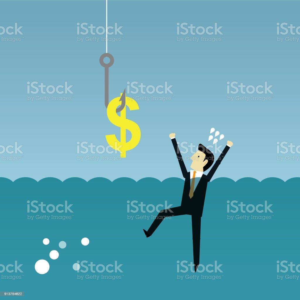 Financial crime vector art illustration