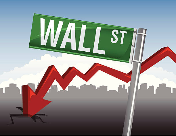 financial crisis concept a concept on the stock market crash on wall street wall street stock illustrations