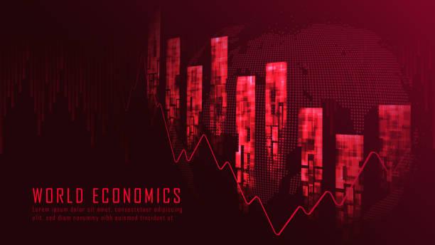 Finanzkrise grafisches Konzept im Abwärtstrend – Vektorgrafik