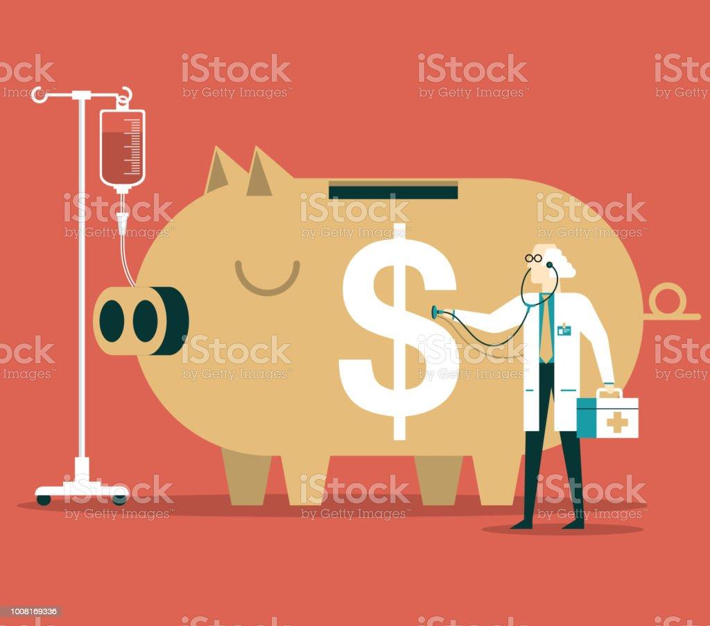 Crisis financiera - ilustración de arte vectorial