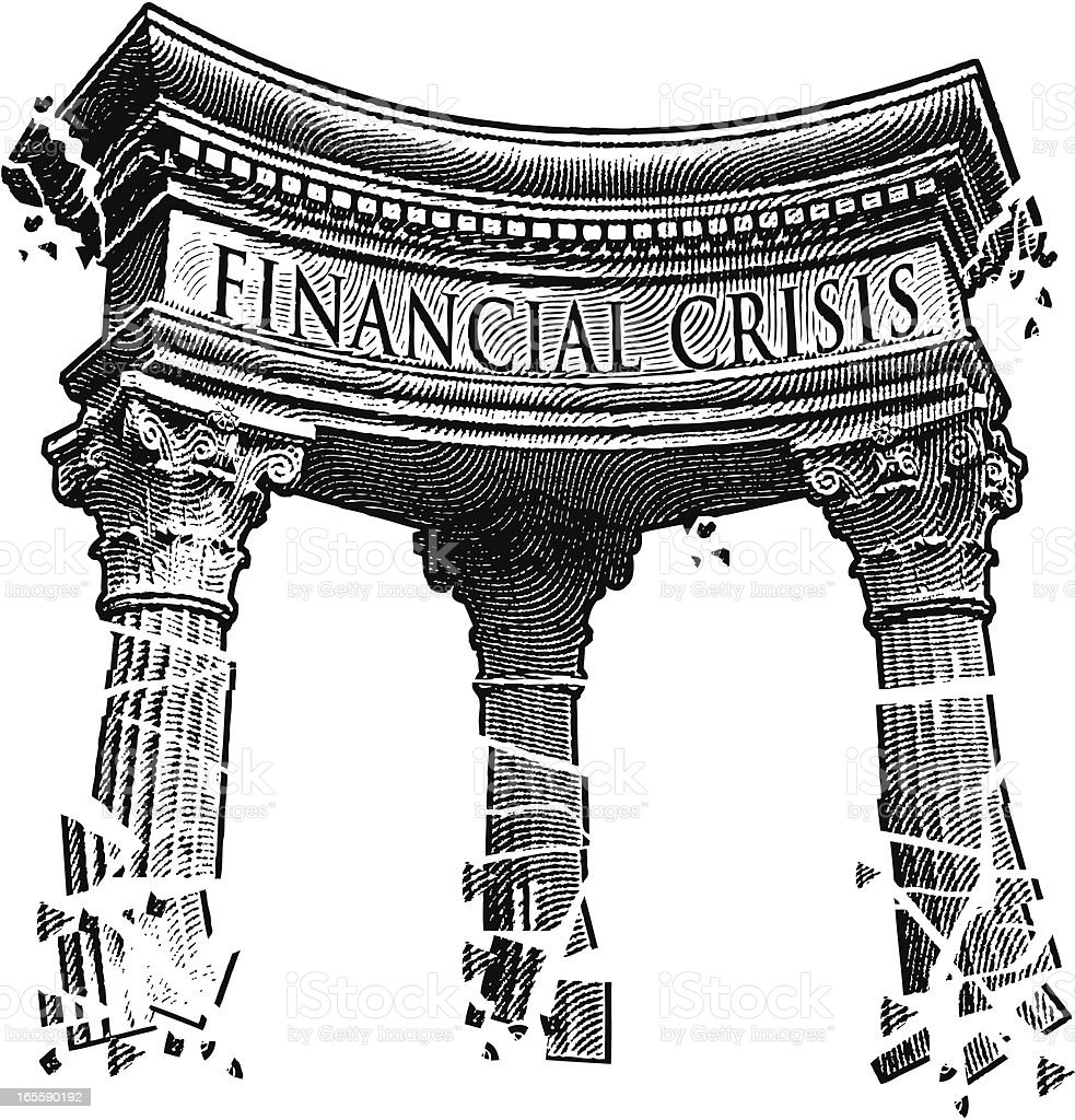 Financial Crisis vector art illustration