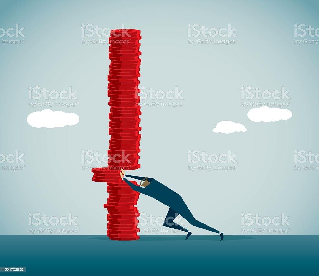 Financial Crisis vector art illustration