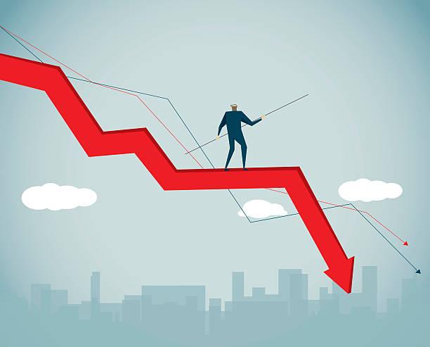stockillustraties, clipart, cartoons en iconen met financial crisis - recessie
