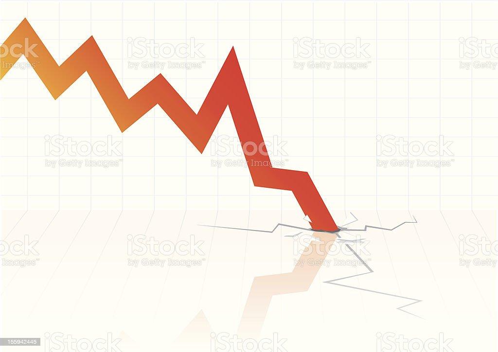 Financial crisis vector royalty-free stock vector art