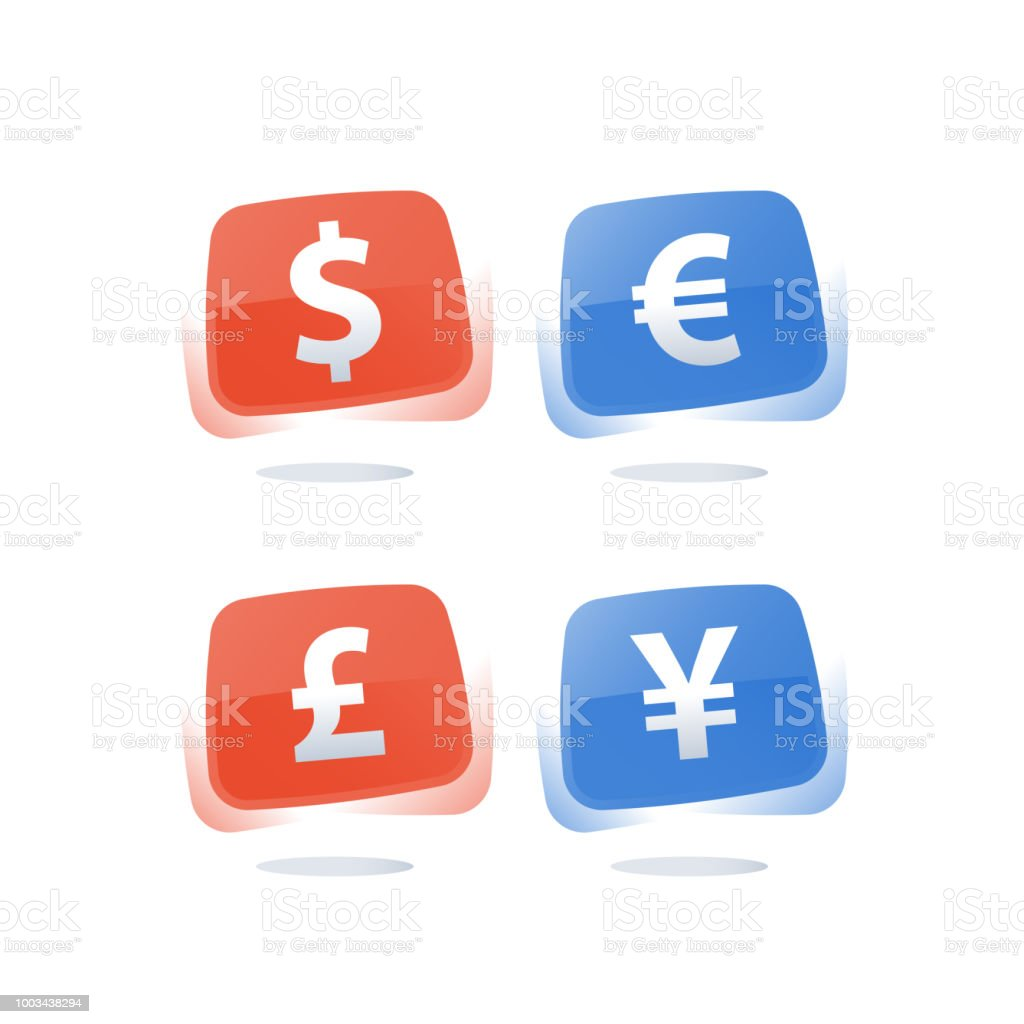 Financial Currency Rate And Exchange Dollar Sign Euro Symbol British