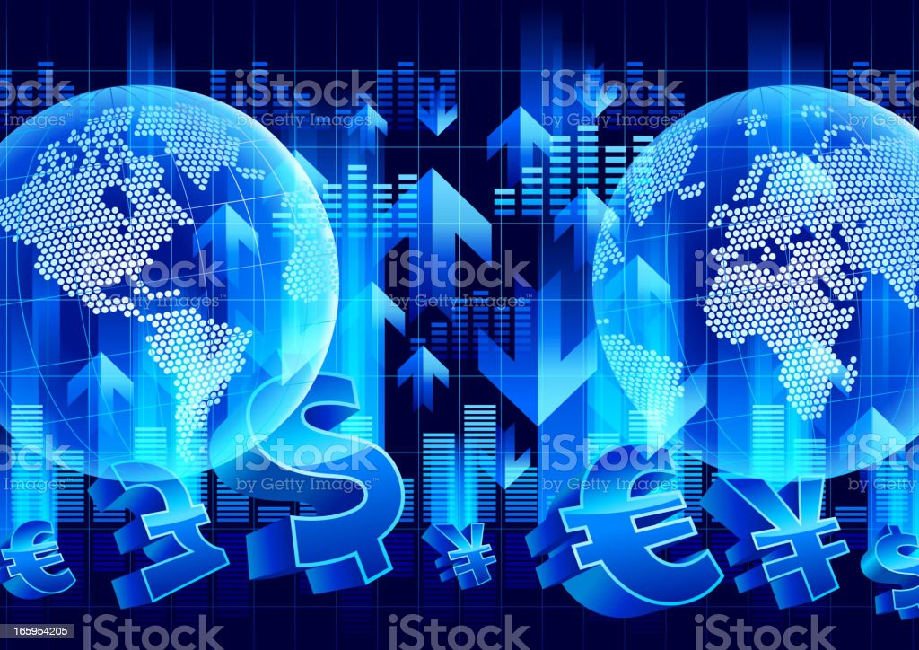 Financial currency vector art illustration