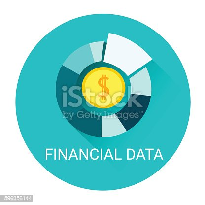 Financial Data Diagram Business Icon Stock Vector Art & More Images of Abstract 596356144