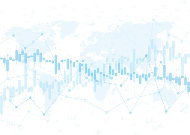 stockillustraties, clipart, cartoons en iconen met financiële gegevens graph-grafiek, vectorillustratie. abstracte achtergrond met graph grafiek finance. bedrijfsconcept - economie