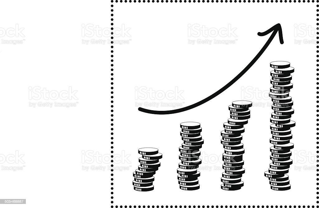 Financial diagram  increase royalty-free stock vector art