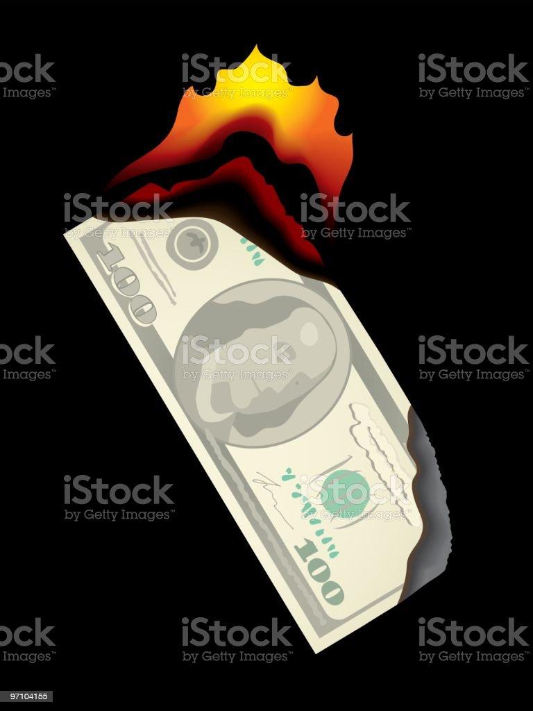 financial disaster royalty-free stock vector art