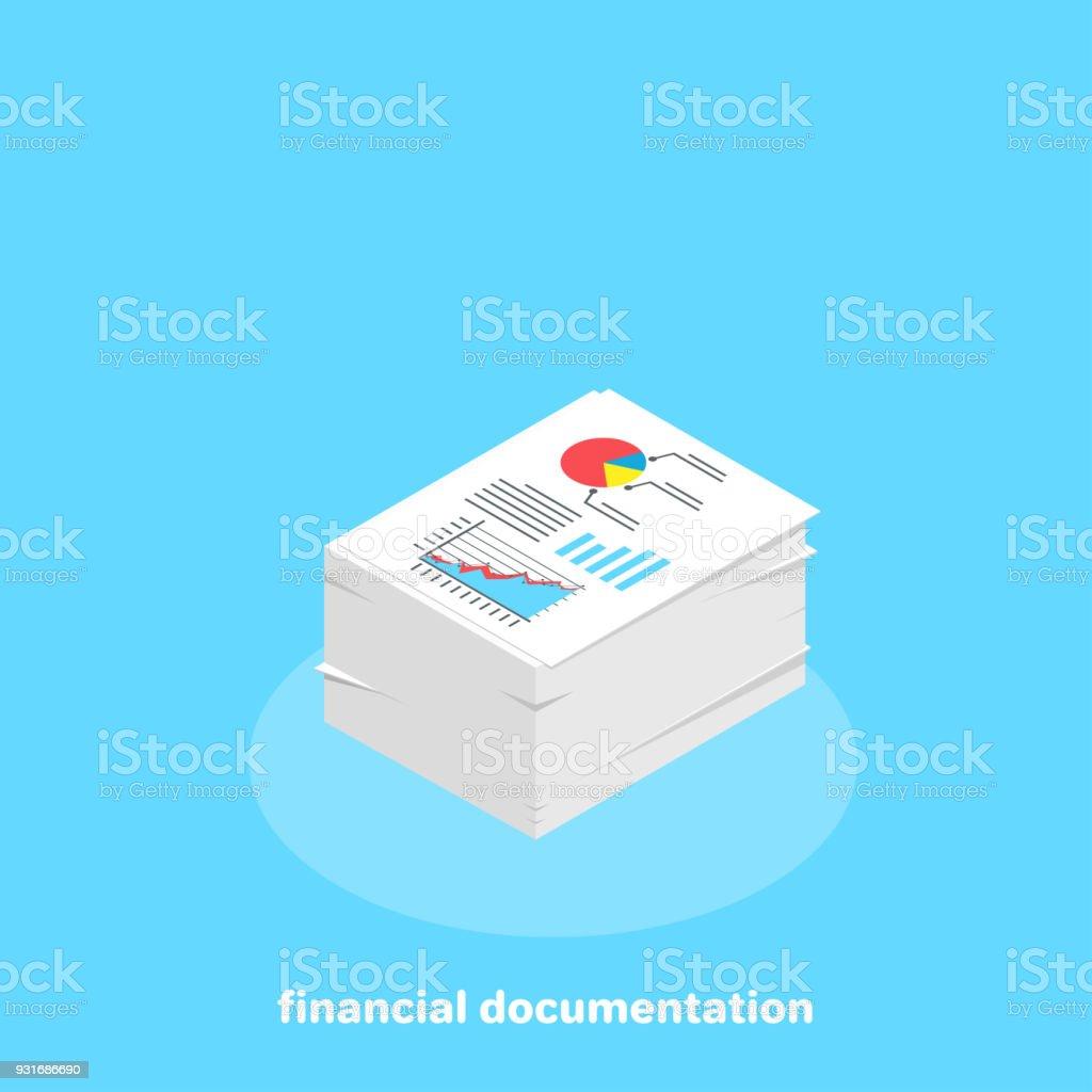 financial documentation vector art illustration