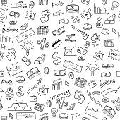 Financial doodle background