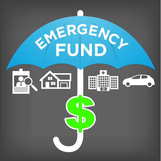 Financial Emergency Fund Icon Financial Emergency Fund Icon Savings accidents and disasters stock illustrations