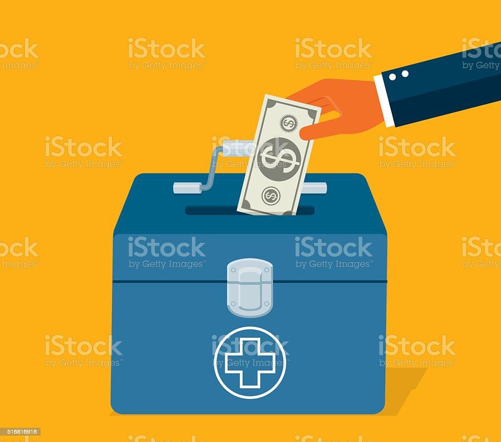 Financial Emergency Fund vector art illustration
