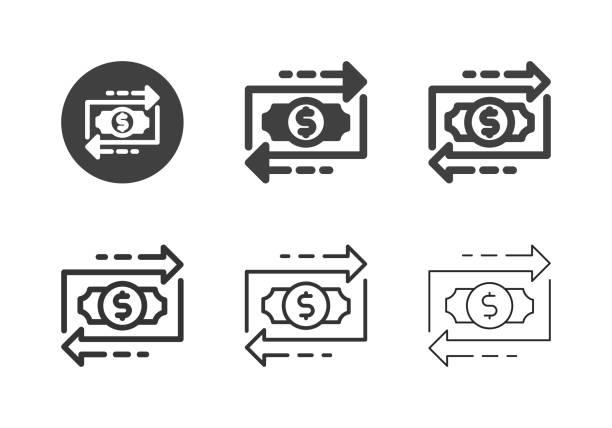 Financial Flow Icons - Multi Series vector art illustration