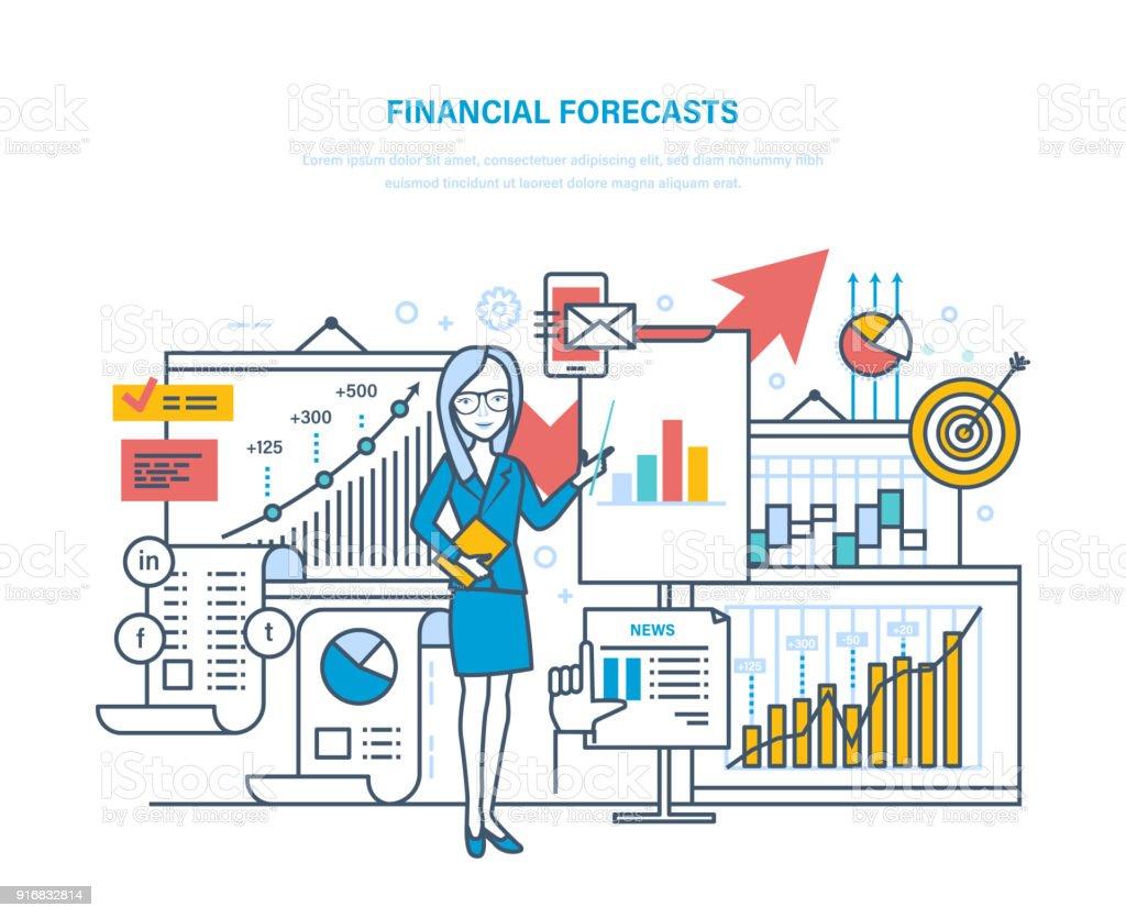 Finanziellen Vorausschau Marketingstrategie Finanzplanung Analyse ...