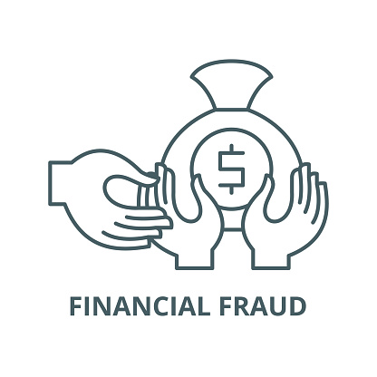 Financial fraud vector line icon, linear concept, outline sign, symbol
