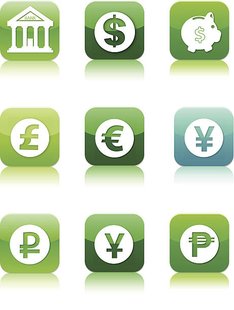 financial Glossy App icons Useful for any print + web projects! :biggrin: taiwanese currency stock illustrations