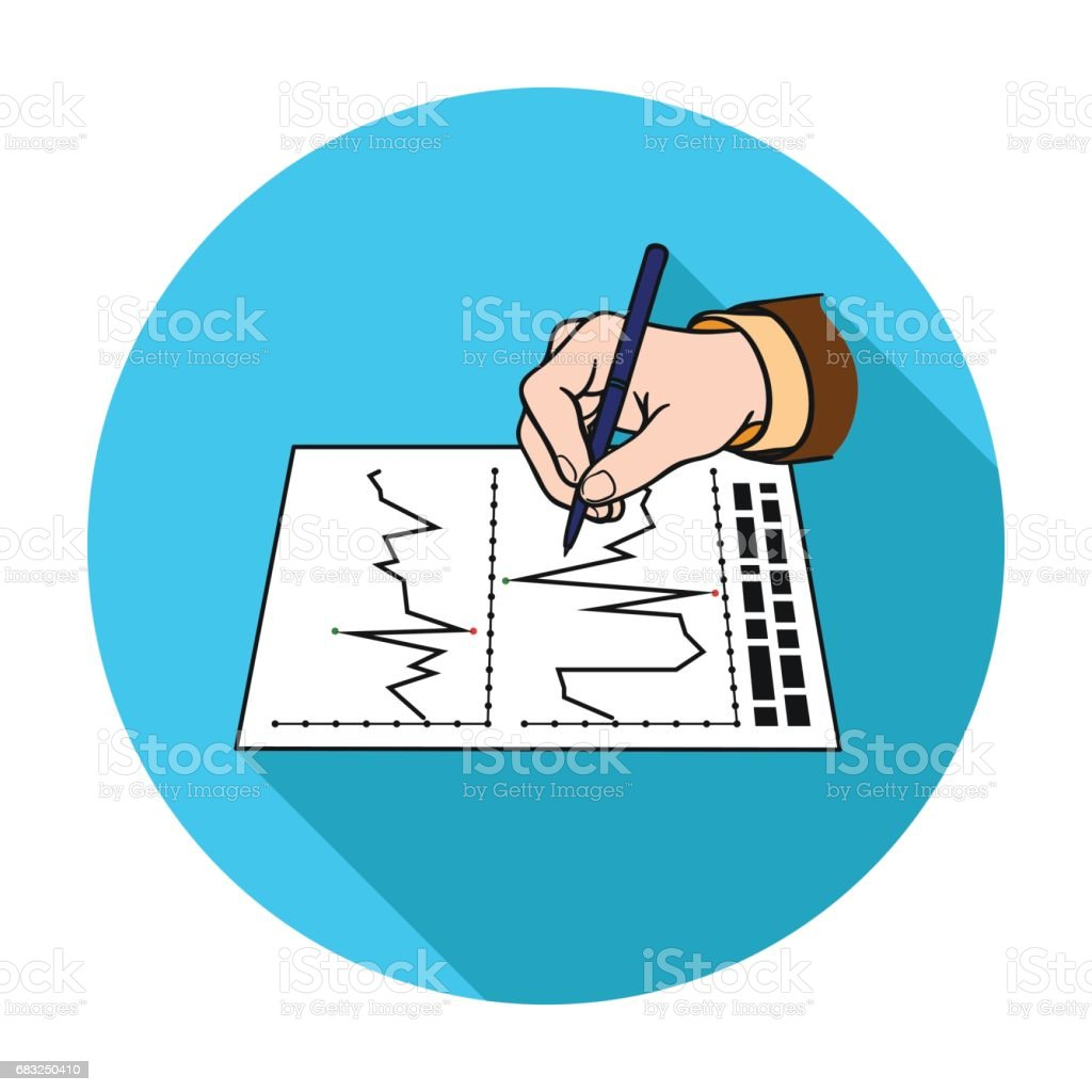 Financial graphic icon in flat style isolated on white background. Money and finance symbol stock vector illustration. Lizenzfreies financial graphic icon in flat style isolated on white background money and finance symbol stock vector illustration stock vektor art und mehr bilder von abstrakt