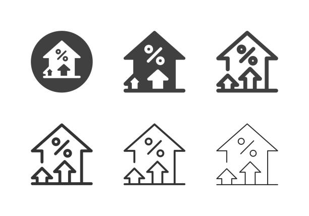 Financial Growth Icons - Multi Series vector art illustration