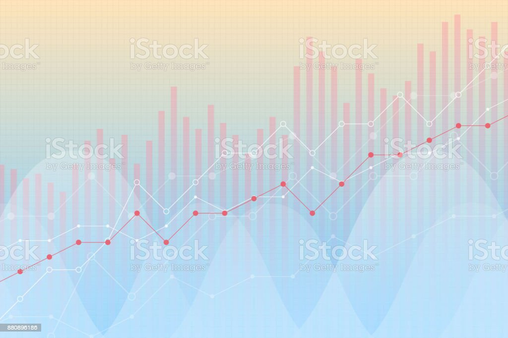 Financial Growth Revenue Graph Vector Illustration Trend Lines