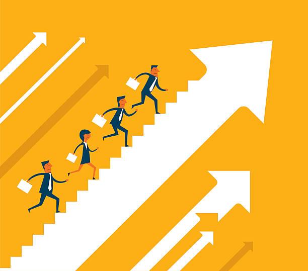 wirtschaftliche wachstum - treppe stock-grafiken, -clipart, -cartoons und -symbole
