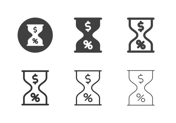 Financial Hourglass Icons - Multi Series vector art illustration