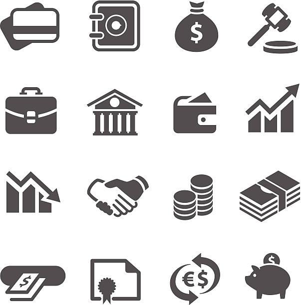 Financial icons set. vector art illustration