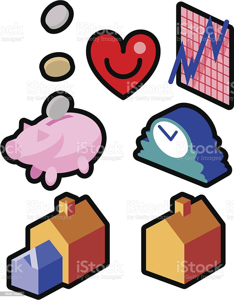 Financial icons royalty-free financial icons stock vector art & more images of banking
