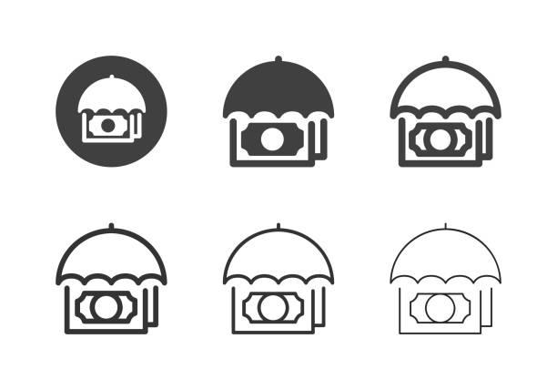 Financial Insurance Icons - Multi Series vector art illustration