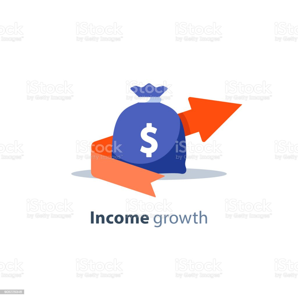 Financial investment, pension fund, banking services, budget plan, finance report, income growth, debt and loan concept vector art illustration