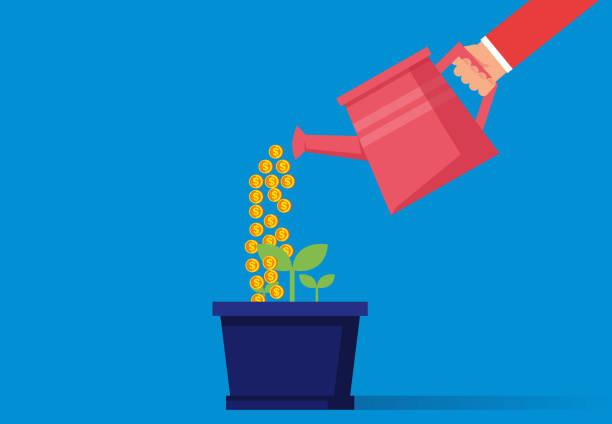 finanzielle investitionen - glasblumen stock-grafiken, -clipart, -cartoons und -symbole