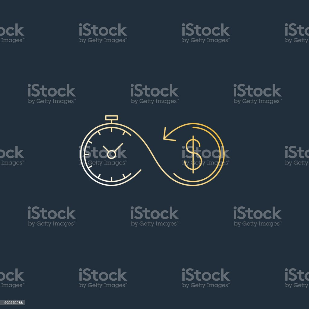 Financial investments concept, money insurance icon, pension fund vector art illustration