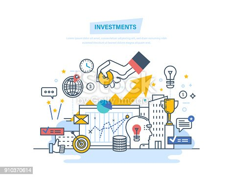 istock Financial investments, marketing, finance, analysis, security financial savings and money 910370614