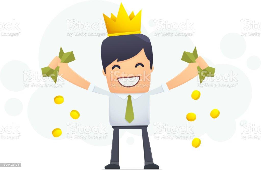 Financial king royalty-free stock vector art