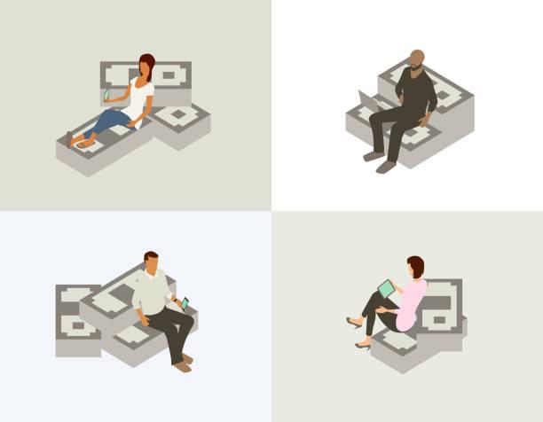 Financial management illustration vector art illustration
