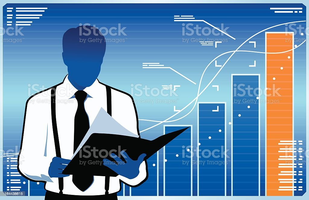 Financial manager royalty-free stock vector art