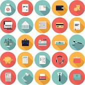 Financial matters icons set